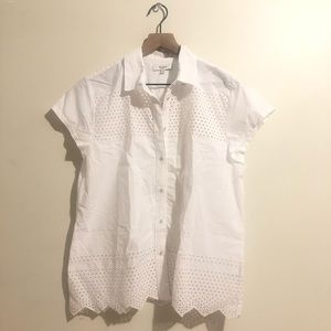 Madewell White Cut Out Top